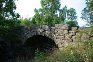 Stone bridge over a river